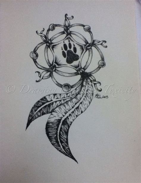 wolf and dreamcatcher tattoo designs wolf paw dreamcatcher search tattoos