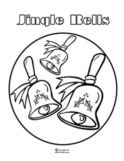 jingle dress coloring page jingle bells coloring pages