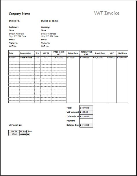 vat template non vat invoice template south africa rabitah net