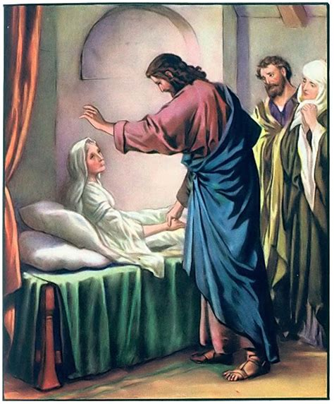 imagenes de jesus sanando jesus heals peter s mother in law sick with fever