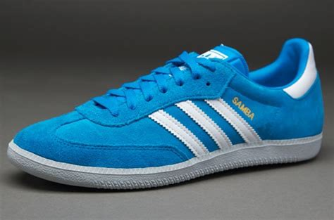 adidas originals samba mens select footwear solar blue running white clear grey