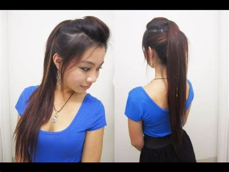 cute ponytail hairstyles for medium long hair l chic edgy