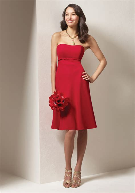 whether choose red bridesmaid dresses for big day