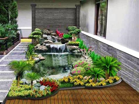 taman minimalis  kolam ikan  depan rumah taman