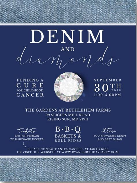 Denim & Diamonds Fundraiser To Support Kids With Cancer