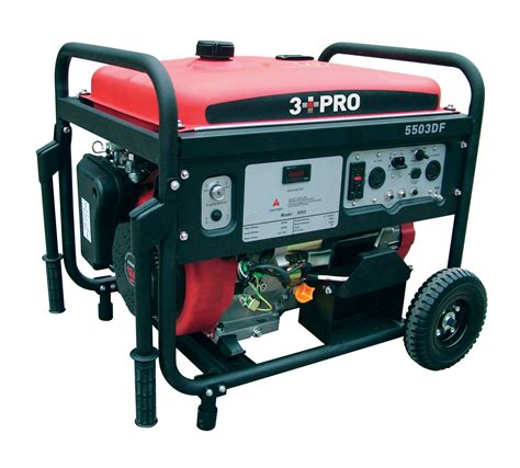 3 pro portable dual fuel generator 5500 watt lp gas carb