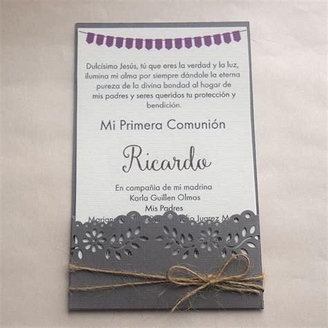 invitaciones primera comuni n tarjetas e invitaciones invitaci 243 n para primera comuni 243 n quot bander 237 n quot ondine