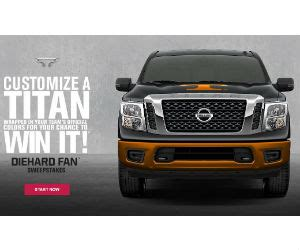 Nissan Titan Giveaway - win a 2017 nissan titan truck or a 100 gift card free sweepstakes contests giveaways