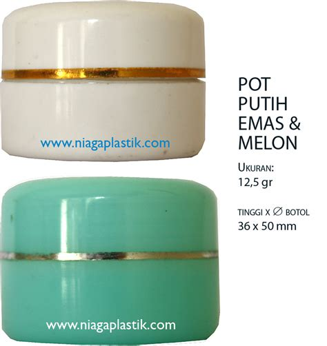 Pot 12 5 Gr Putih Putih botol kosmetik plastik