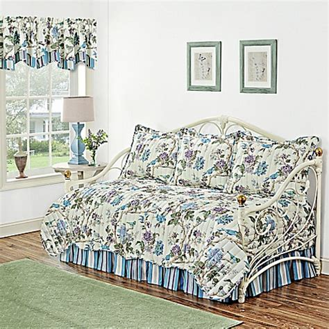 bed bath and beyond larkspur waverly 174 charleston chirp larkspur reversible daybed set