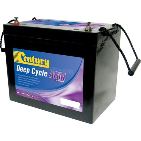 What Is A Glass Mat Battery by Century C12 75da 12v 75ah Absorbed Glass Mat Agm Cycle Battery Century Radio Parts