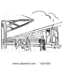 Train Station Clipart Black And White  ClipartFest sketch template