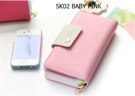 Sale Dompet Wanita Pink Shabby Fashion Import Korea Murah Md197 dompet wanita ryn fashion