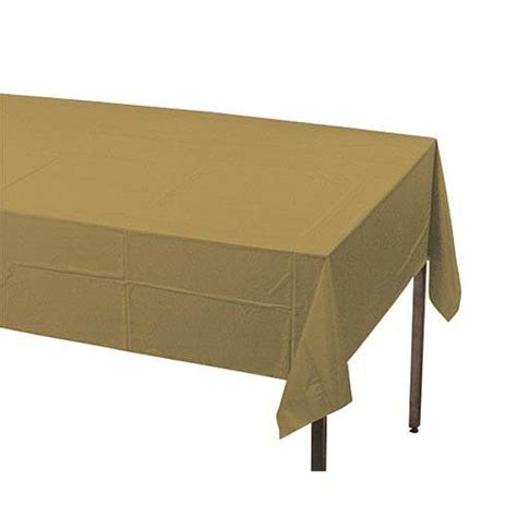 gold table cover roll gold plastic table cover shindigz