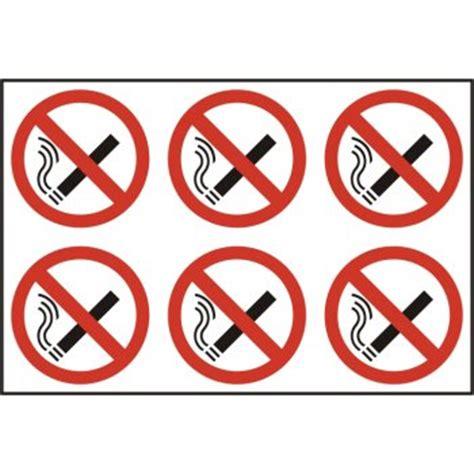 bar equipment no smoking signs adhesive no smoking no smoking self adhesive circle sign 6 per sheet
