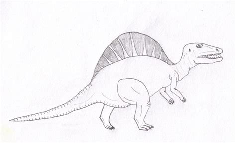free coloring pages of spinosaurus