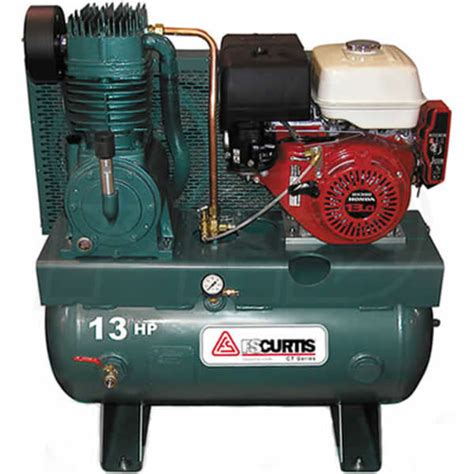 fs curtis 1375gt3 he 13 hp 30 gallon two stage truck mount air compressor w honda engine