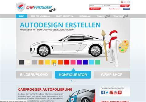 Autofolien Konfigurator by Carfrogger De Autofolien Selbst Designen
