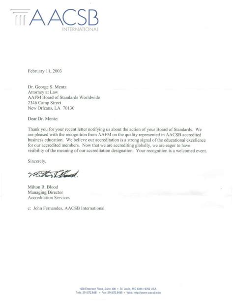 Official Letter American Aafm Board Certified Financial Analyst Designate Fad