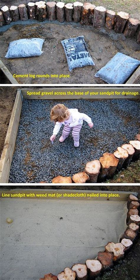 diy pit sand our wooden sandpit for the sandbox and logs