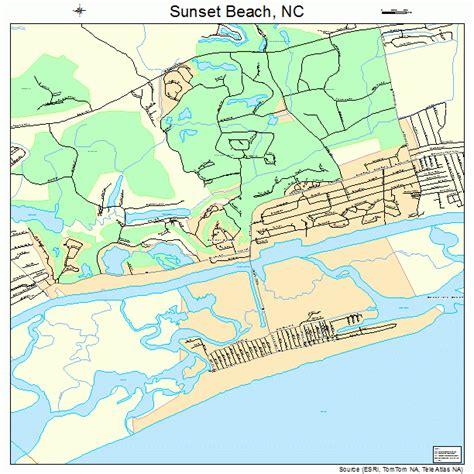 map carolina beaches sunset carolina map 3765900