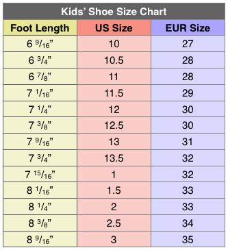 shoe size chart download shoe sizing charts cheat sheet by davidpol download free