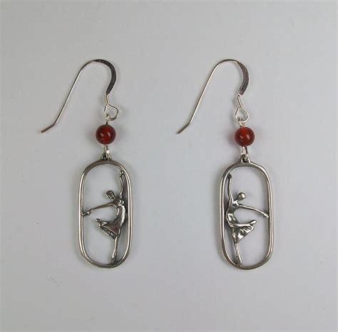 Ballet Earring ballet earrings sterling silver and carnelian from