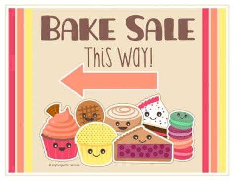 bake sale template printable bake sale signs printables word processing