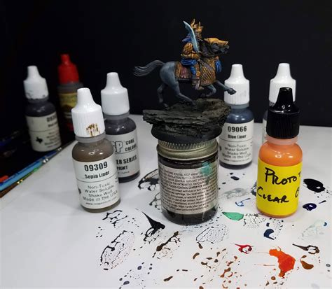 jams testing colors wappel miniature painting color testing
