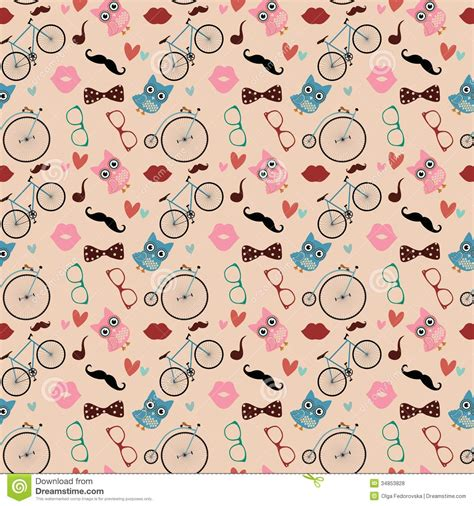seamless doodle pattern free vector hipster doodles colorful seamless pattern royalty free