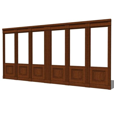 wood partition wood wall partition system 3d model formfonts 3d models