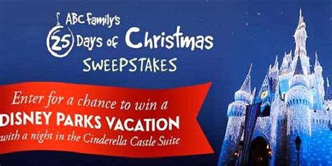 25 Days Of Christmas Sweepstakes - abc family 25 days of christmas sweepstakes sweepstakesbible