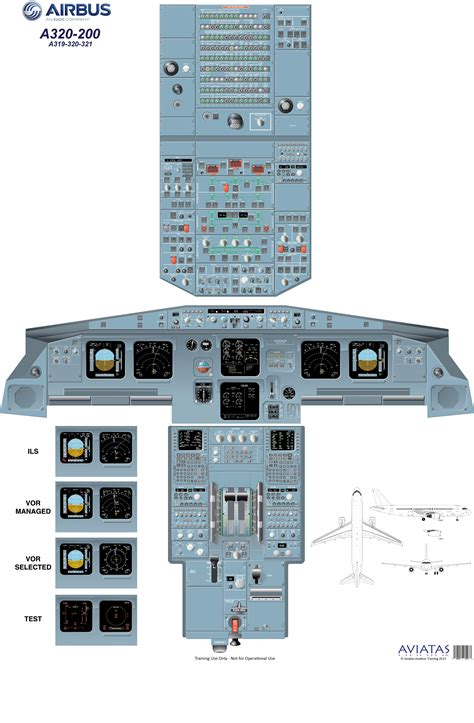 A320 Cockpit Layout Poster Download | airbus a320 cockpit poster used for pilot training hafid