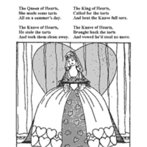 coloring page queen of hearts nursery rhyme 187 coloring pages 187 surfnetkids