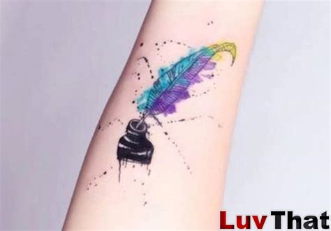 pen tattoo forearm 25 amazing watercolor tattoos luvthat
