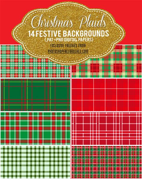 christmas pattern brushes photoshop 14 christmas plaid and checkered patterns photoshop free