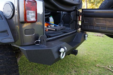 Aftermarket Jeep Accessories Jpa V4 Rock Crawler Rear Bumper With Carrier For Jk