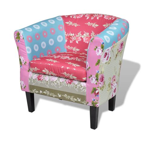 Patchwork Upholstered Furniture - patchwork chair upholstered armrest with foot stool www