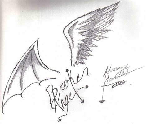 torn angel wings tattoo designs www imgkid com the