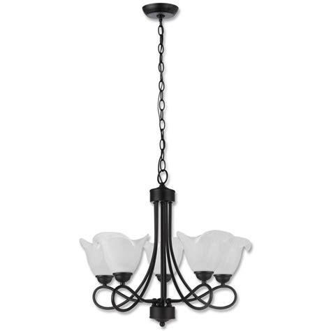 5 Light Black Chandelier Beldi Collection 5 Light Black Chandelier 21801 H5 The Home Depot
