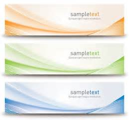 Free Banner Templates by Abstract Banners Design Vector Graphic Template