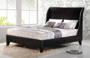 curved bed upholstered platform bed furniture with curved headboard