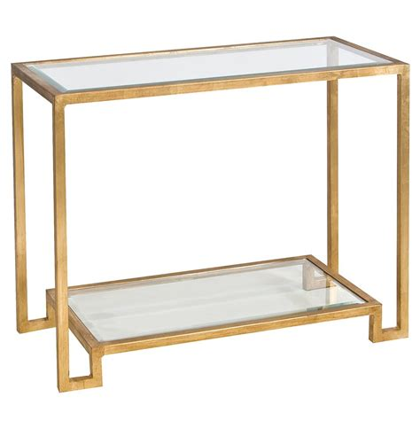 hutton regency glass gold console table kathy