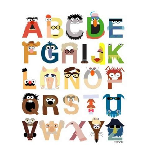 typography characters if your favorite characters were fonts neatorama