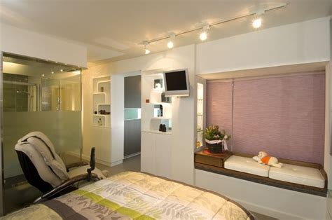 Modern Small Warm Apartment Contemporary Bedroom Hong Kong By Le Design modern royal bedroom bill house plans