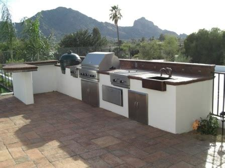 outdoor kitchen stucco finish san antonio outdoor kitchens installation design