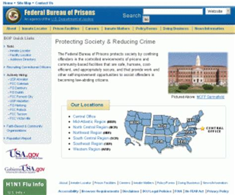 Federal Bureau Of Prisons Inmate Records Bopgov At Website Informer Bop Federal Bureau Of Prisons Web Site 2015 Personal