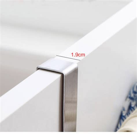 Cabinet Door Towel Rack Stainless Steel Towel Bar Holder Kitchen Cabinet Door Hanging Rack T1