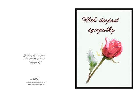 Printable Card Sympathy | 7 best images of death sympathy card free printable