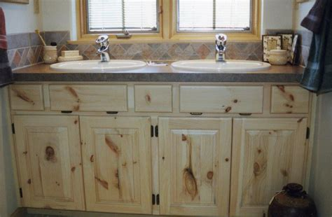 Knotty Pine Vanity Affordable Custom Cabinets Showroom